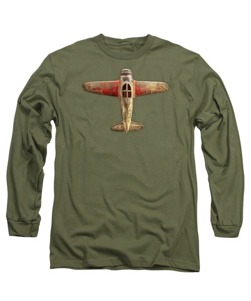 Toy Airplane Scrapper Pattern Long Sleeve T-Shirt by YoPedro