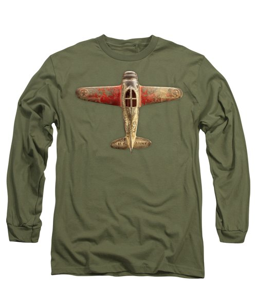 Toy Airplane Scrapper Pattern Long Sleeve T-Shirt
