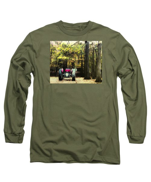 Tractor Long Sleeve T-Shirt by Carlee Ojeda