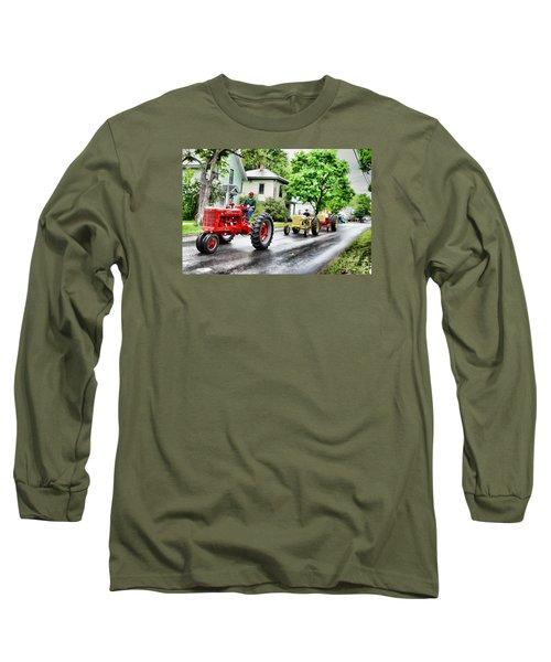 Tractors On Parade Long Sleeve T-Shirt by Rena Trepanier