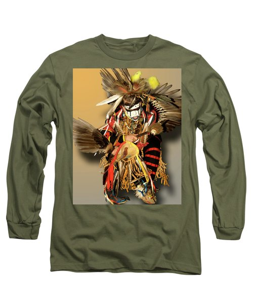 Traditional Native American Dancer Long Sleeve T-Shirt