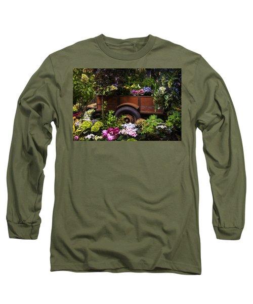 Trailer Full Of Flowers Long Sleeve T-Shirt