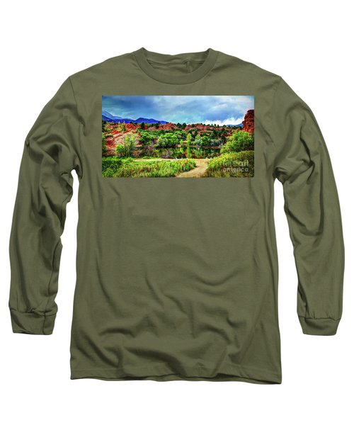Long Sleeve T-Shirt featuring the photograph Trails Of Red Rock Canyon by Deborah Klubertanz