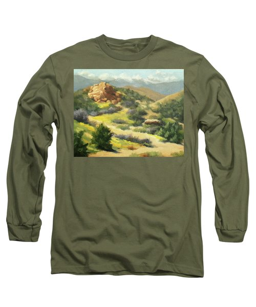 Trails Of Vasquez Canyon Long Sleeve T-Shirt