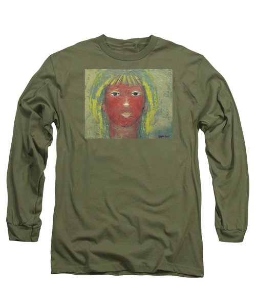 Tranquil Gaze Long Sleeve T-Shirt by Becky Kim