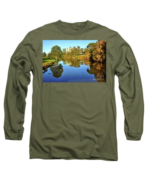 Long Sleeve T-Shirt featuring the photograph Tranquil River By Kaye Menner by Kaye Menner