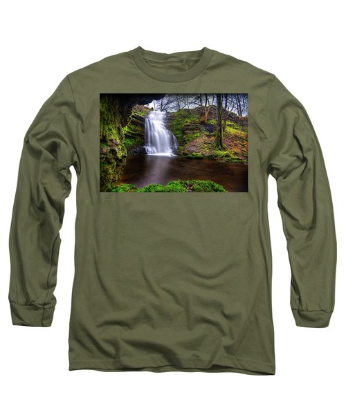 Tranquil Slow Soft Waterfall Long Sleeve T-Shirt