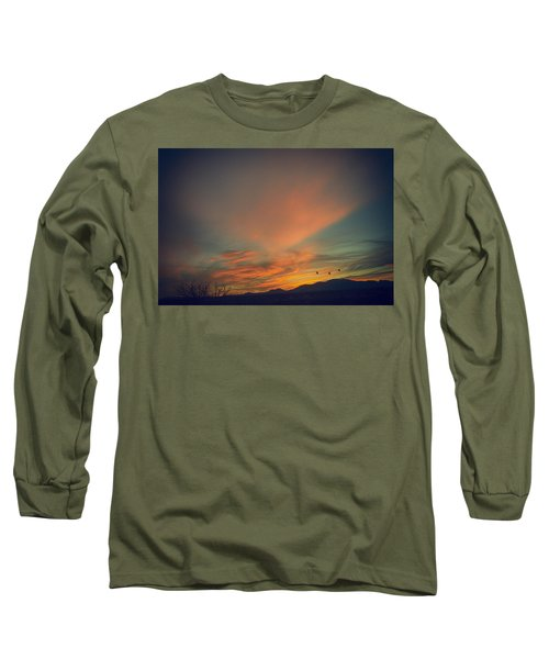 Tranquil Sunset Long Sleeve T-Shirt by Barbara Manis