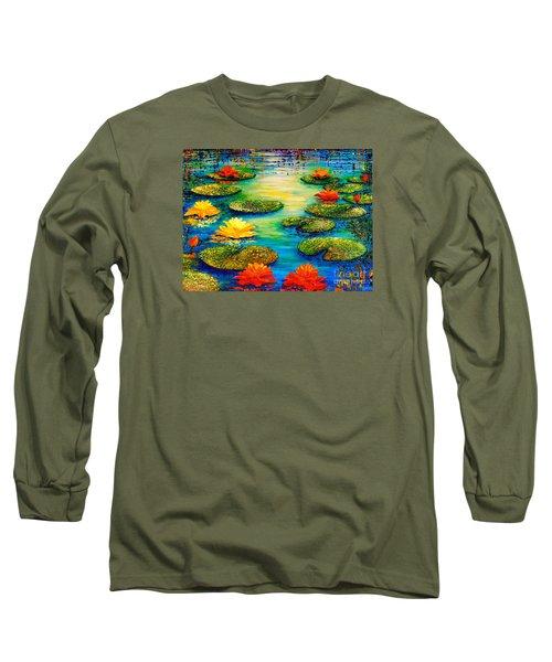 Tranquility 3 Long Sleeve T-Shirt by Teresa Wegrzyn