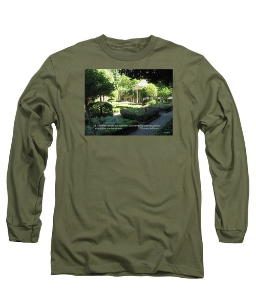 Tranquility And Occupation Long Sleeve T-Shirt by Deborah Dendler
