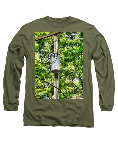 Transformer And Power Lines Long Sleeve T-Shirt