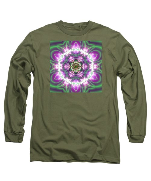 Transition Flower 6 Beats 3 Long Sleeve T-Shirt by Robert Thalmeier