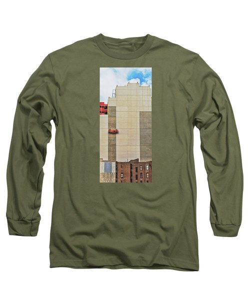 Long Sleeve T-Shirt featuring the photograph Transition From Old To New In New York by Gary Slawsky