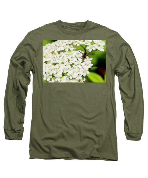 Transverse Flower Fly Long Sleeve T-Shirt