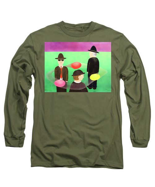 Traveling In The Right Business Circles Long Sleeve T-Shirt by Thomas Blood