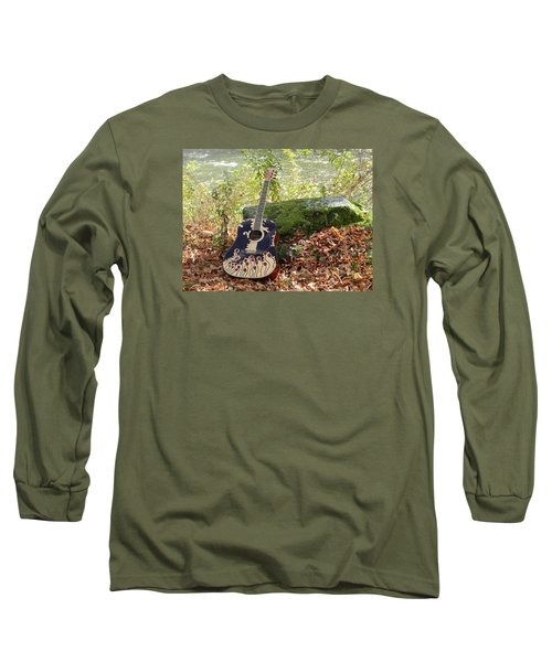 Traveling Musician Long Sleeve T-Shirt by Krys Whitney