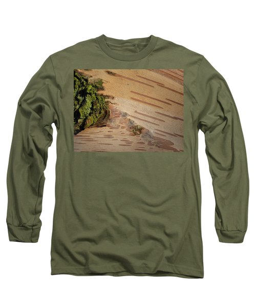 Tree Bark With Lichen Long Sleeve T-Shirt by Margaret Brooks