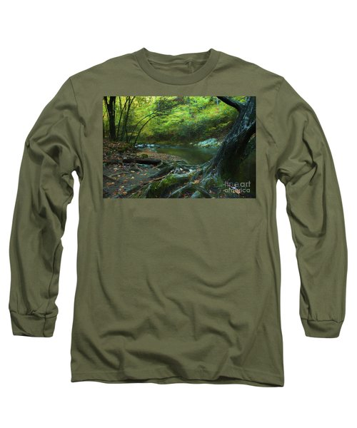 Tree By Water Long Sleeve T-Shirt by Lena Auxier