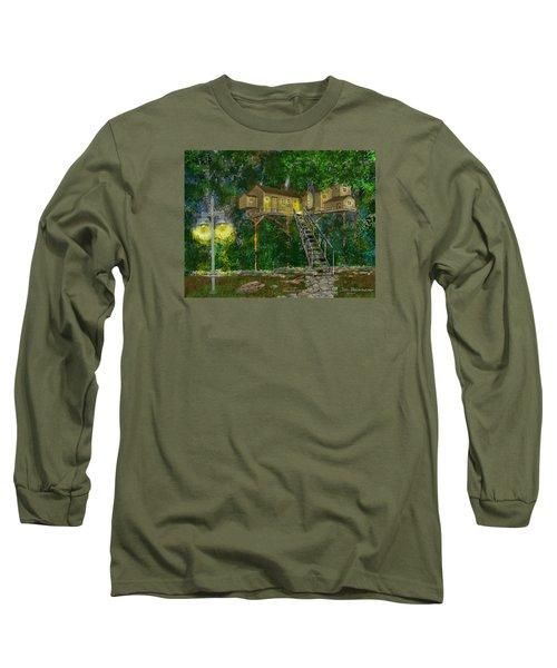 Tree House #10 Long Sleeve T-Shirt by Jim Hubbard