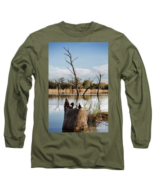 Tree Image Long Sleeve T-Shirt by Douglas Barnard