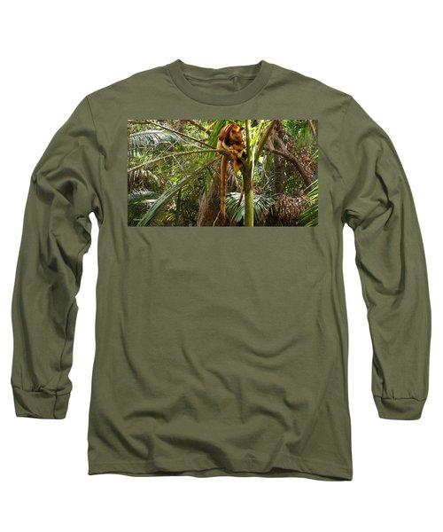 Tree Kangaroo 2 Long Sleeve T-Shirt by Gary Crockett