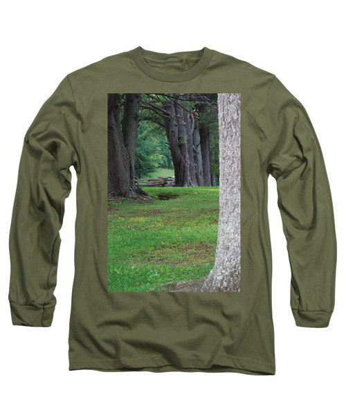 Tree Line Long Sleeve T-Shirt by Eric Liller