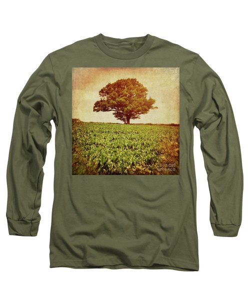Long Sleeve T-Shirt featuring the photograph Tree On Edge Of Field by Lyn Randle