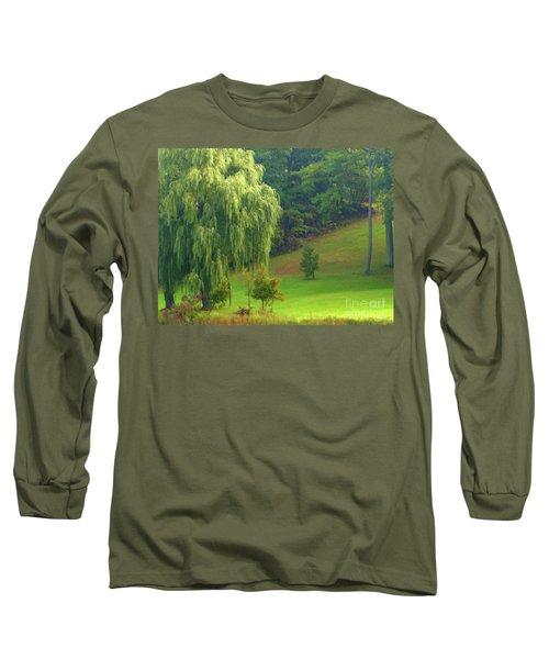 Trees Along Hill Long Sleeve T-Shirt