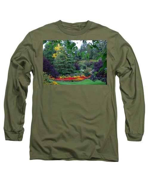 Trees And Flowers Long Sleeve T-Shirt by Betty Buller Whitehead