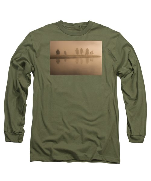 Trees And Fog Long Sleeve T-Shirt