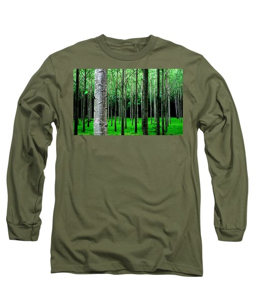 Trees In Rows Long Sleeve T-Shirt