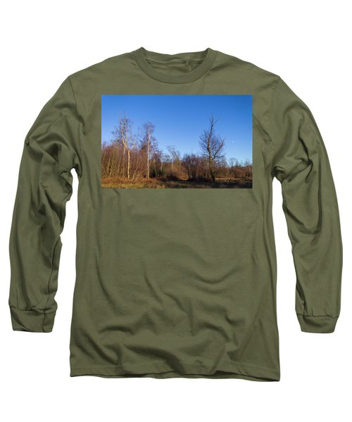 Trees With The Moon Long Sleeve T-Shirt