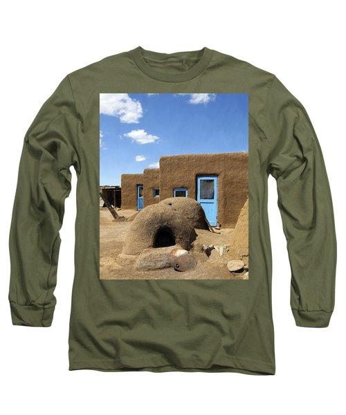Tres Casitas Taos Pueblo Long Sleeve T-Shirt