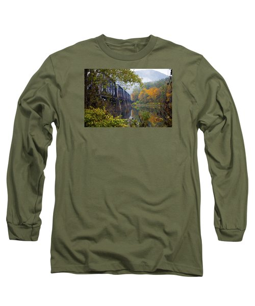 Trestle In Autumn Long Sleeve T-Shirt by Hugh Smith
