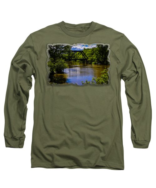 Long Sleeve T-Shirt featuring the photograph Trestle Over River by Mark Myhaver