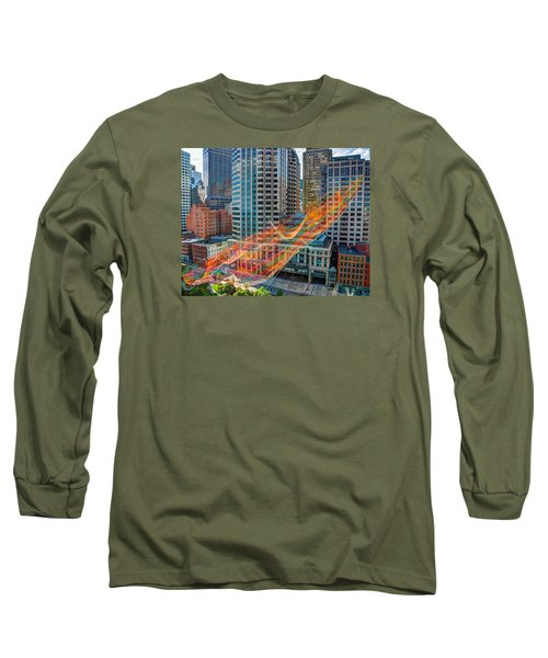 Tri Mountain Sculpture 002 Long Sleeve T-Shirt
