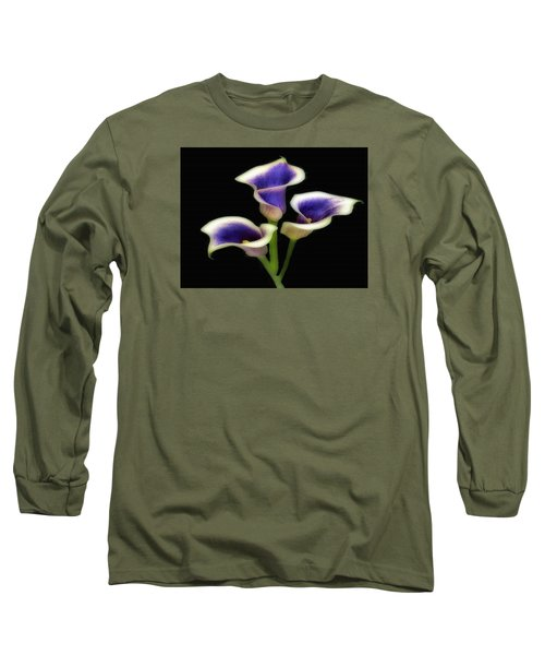 Triple Royal Floral Long Sleeve T-Shirt