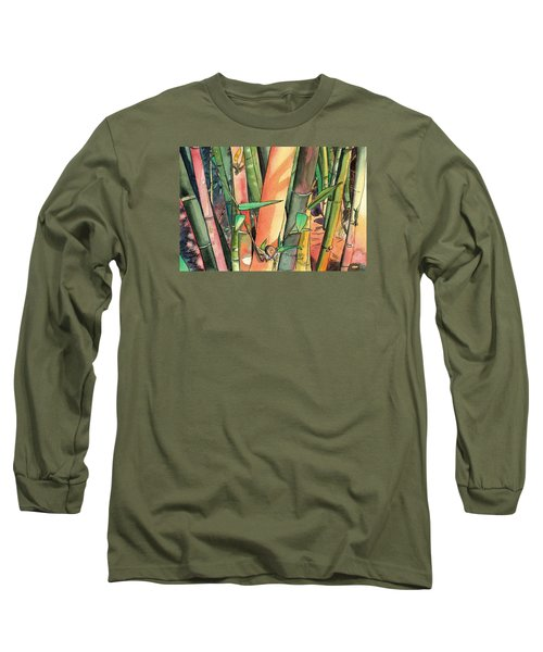 Tropical Bamboo Long Sleeve T-Shirt by Marionette Taboniar