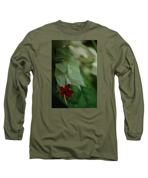 Long Sleeve T-Shirt featuring the photograph Tropical Bleeding Heart by Ramona Whiteaker