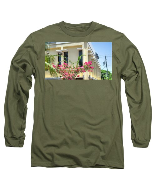 Tropical Bougainvillea Long Sleeve T-Shirt