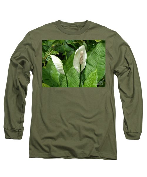 Tropical Flower Long Sleeve T-Shirt by Margaret Brooks