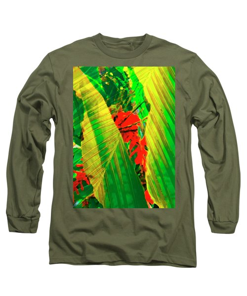 Tropical Fusion Long Sleeve T-Shirt by Stephen Anderson