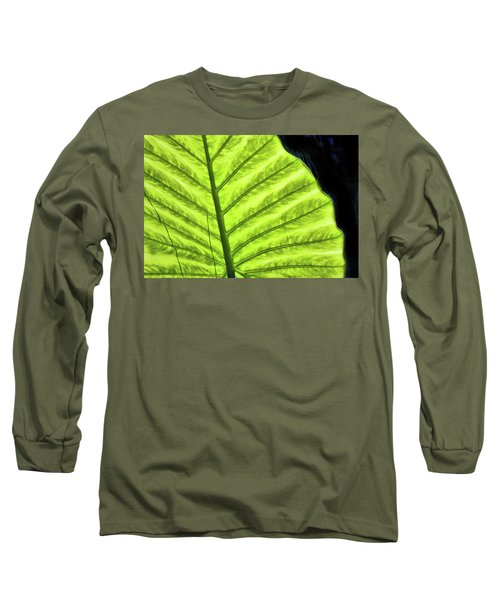 Tropical Leaf Long Sleeve T-Shirt