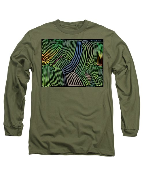 Tropical Striations Long Sleeve T-Shirt