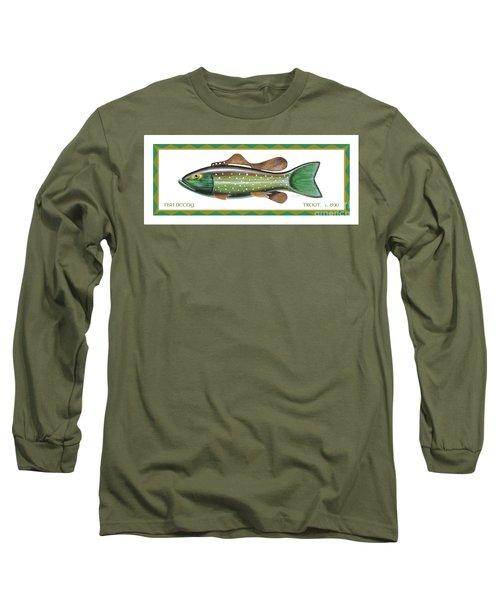 Trout Ice Fishing Decoy Long Sleeve T-Shirt