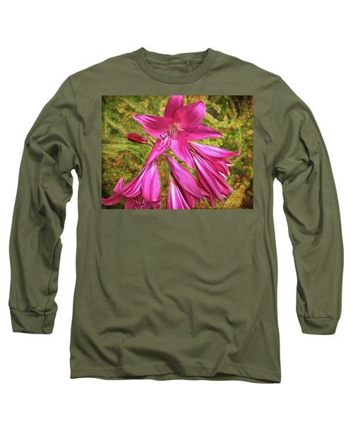 Long Sleeve T-Shirt featuring the photograph Trumpet Flowers by Lewis Mann