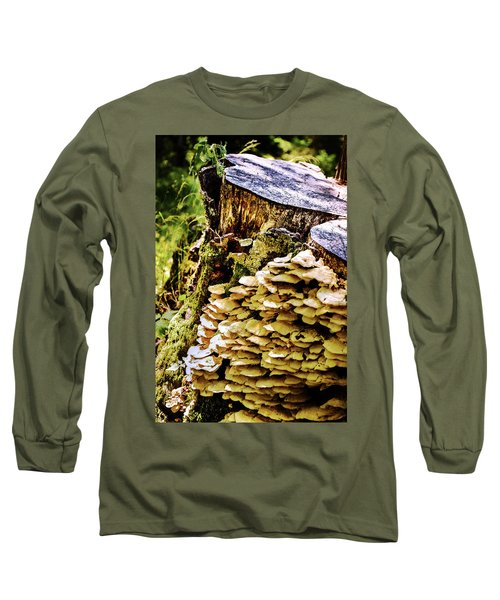 Trunk And Mushrooms Long Sleeve T-Shirt