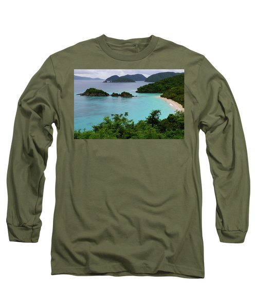Trunk Bay At U.s. Virgin Islands National Park Long Sleeve T-Shirt by Jetson Nguyen