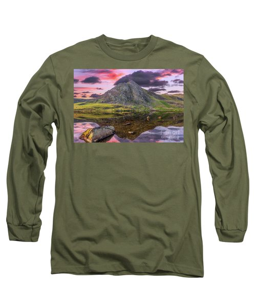 Long Sleeve T-Shirt featuring the photograph Tryfan Mountain Sunset by Adrian Evans
