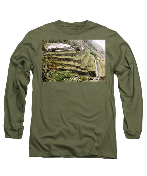 Tucked In A Mountain Long Sleeve T-Shirt